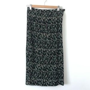 & Other Stories Green Floral Pleated Skirt US 4